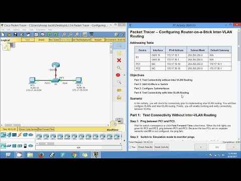 6 3 3 6 Packet Tracer - Configuring Router-on-a-Stick Inter