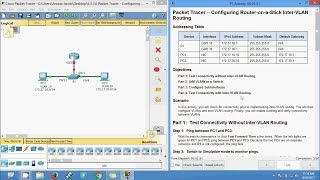 6.3.3.6 Packet Tracer - Configuring Router-on-a-Stick Inter-VLAN Routing