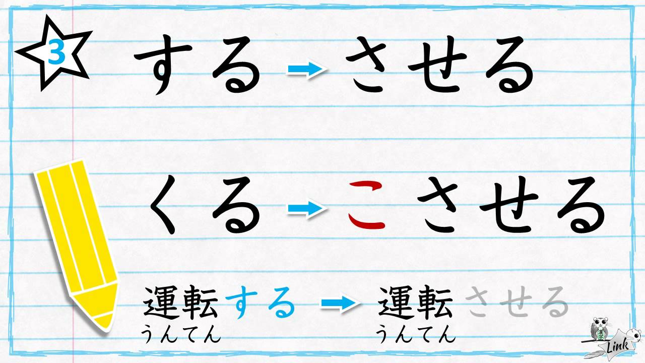 Learn Japanese verb conjugation : The causative form (さ)せる ...