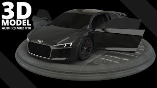 Audi R8 MK2 V10 Plus -- 3D Model | Tlatso-Son