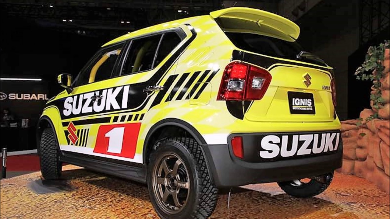 suzuki ignis motocross style edition revealed in tokyo youtube. Black Bedroom Furniture Sets. Home Design Ideas