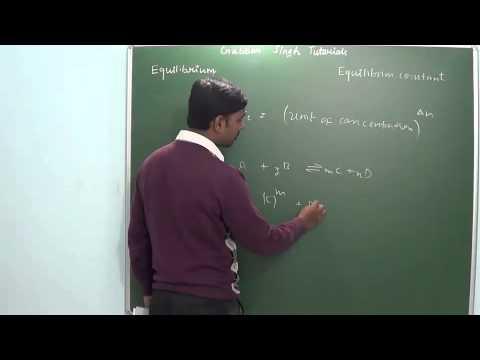 3.2 Equilibrium constant