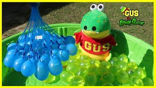 Bunch O Balloon Water Balloon Fight at the Playground with Gus the Gummy Gator