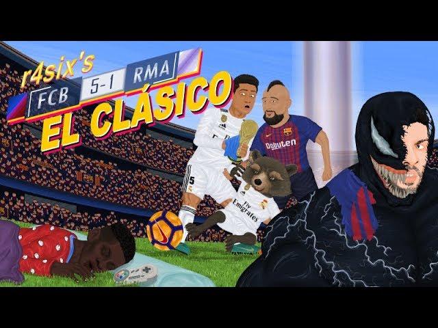 Parodia animada del Barcelona 5-1 Real Madrid 28/10/2018
