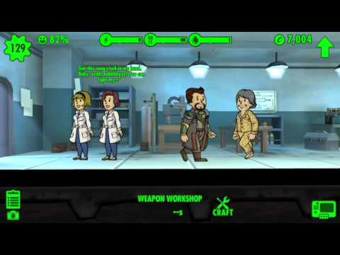 KEVIN'S ARCADE: Fallout Shelter: Crafting Weapons.
