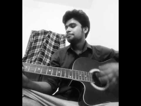 Aj ki raat dil ki ye baat on guitar