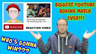 KSI & Logan Paul Rewatch The First Boxing Fight - 40 Days - MARMITE MIKE REACTS!