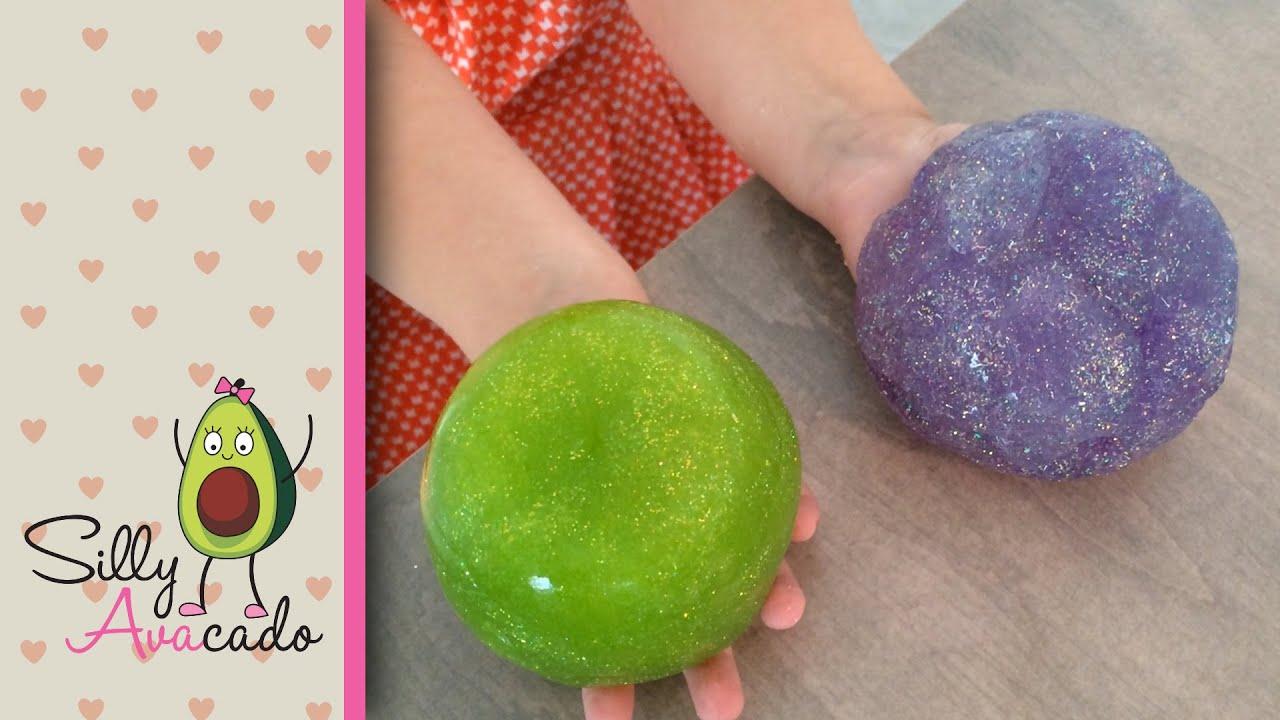 How To Make Glitter Slime Easy Diy Glitter Goo Not As Messy As Other Slime Youtube