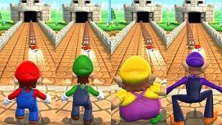 Mario Party 9 Step It Up - Mario vs Luigi vs Wario vs Waluigi Master Difficulty Gameplay
