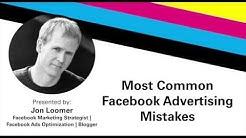 Facebook Advertising Mistakes With Jon Loomer