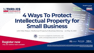 NJTT #002: 4 Ways To Protect Intellectual Property for Small Business