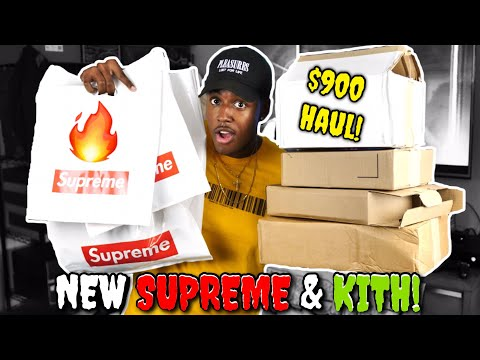 $900 WORTH OF NEW SH#T!? HUGE NEW HAUL/PICKUPS FROM SUPREME AND KITH!!!