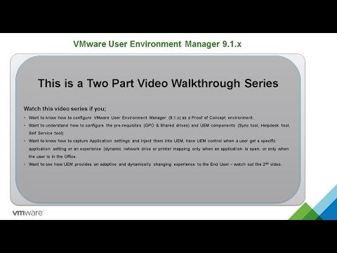 Part 1 - VMware UEM 9.1.x Deploy n Configure