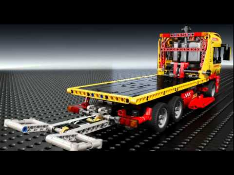 lego technic 8109 tieflader inklusive power functions youtube. Black Bedroom Furniture Sets. Home Design Ideas