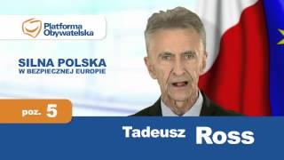 Tadeusz Ross - Platforma obywatelska - Oficjalny spot wyborczy