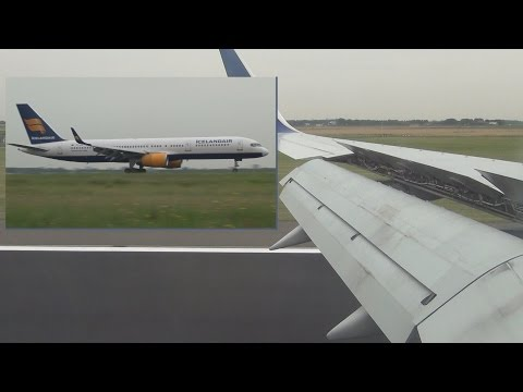 Wonderful flight from Reykjavík to Amsterdam, Icelandair TF-FIN Boeing 757-208(WL)
