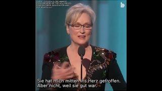 Meryl Streep über Diskriminierung Behinderter durch Donald Trump - deutscher UT
