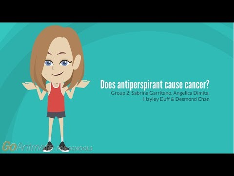 Does antiperspirant cause cancer?