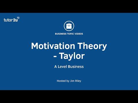 Motivation Theory: Taylor (Scientific Management)