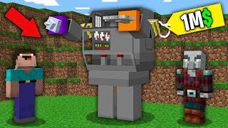 WHAT FOR NOOB BOUGHT THIS SUPER TITAN ROBOT FOR 1.000.000$? NOOB VS TROLLING MINECRAFT!