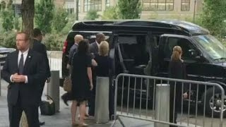 Video shows Clinton leaving 9/11 event early
