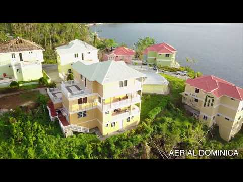 SAVANNE PAILLE (DOMINICA)ONE MONTH AFTER HURRICANE MARIA - AERIAL DOMINICA