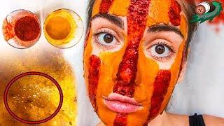 Цветная маска для лица от чёрных точек с желатином, куркумой и перцем 🌴 POLI NA PALME