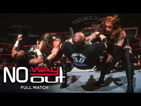FULL MATCH - World Tag Team Championship Triple Threat Tables Match: WWE No Way Out 2001