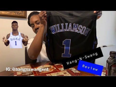 DHgate  Zion Williamson DUKE Jersey (Hang-N-Swang REVIEW) - YouTube d4bf783fb