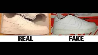 How To Spot Fake Nike Air Force 1 Sneakers / Trainers Authentic vs Replica Comparison