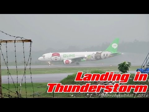 Very Close Take Off and Major Thunderstorm | Plane Spotting at JOG / WAHH