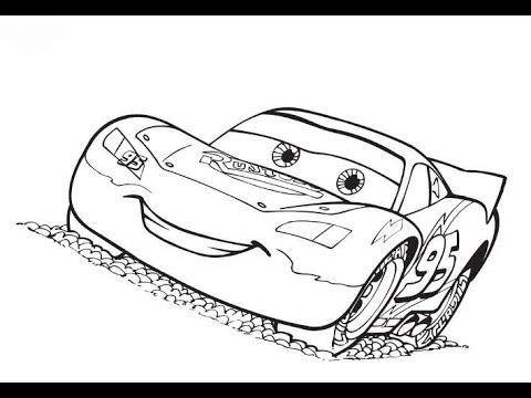 Lightning McQueen Disney Pixar Zeichnung Projektor