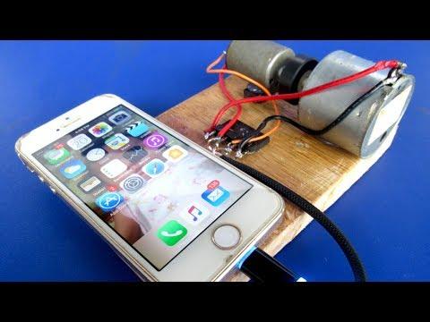 Free energy Mobile Charging generator Using DC motor Self