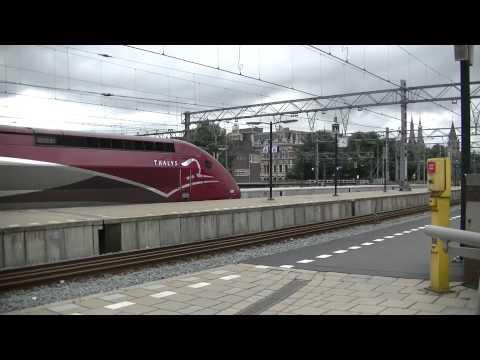 NS Dutch Railway Trains at Amsterdam Central Station