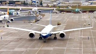 Boeing's 777X foldable-wing aircraft takes its first flight | Full Replay