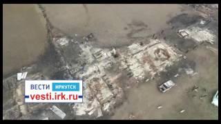 Останки деревни Пойма Тайшетского района после пожара. Видео с коптера