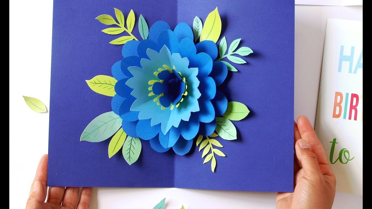 Diy Happy Mother S Day Card Pop Up Flower Free Templates