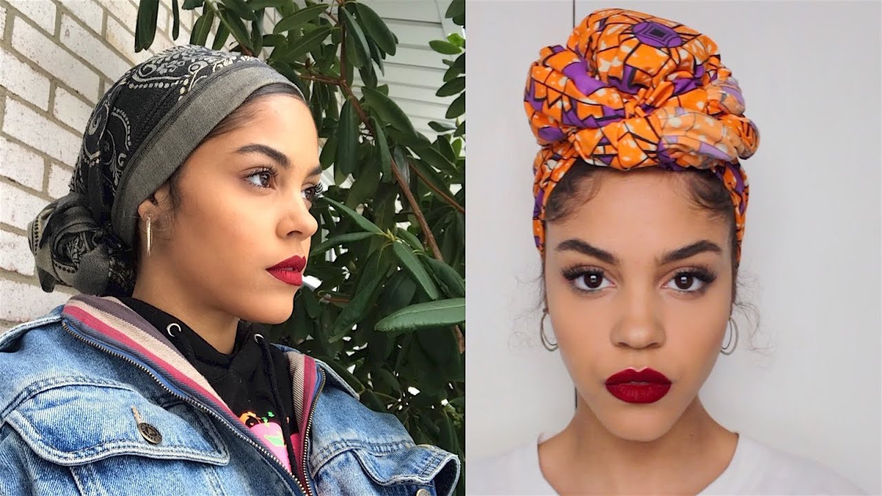 4 Ways I Tie My Head Wraps Scarf Turbans Youtube