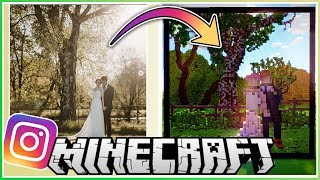 I Built Our Wedding Photo in Minecraft!