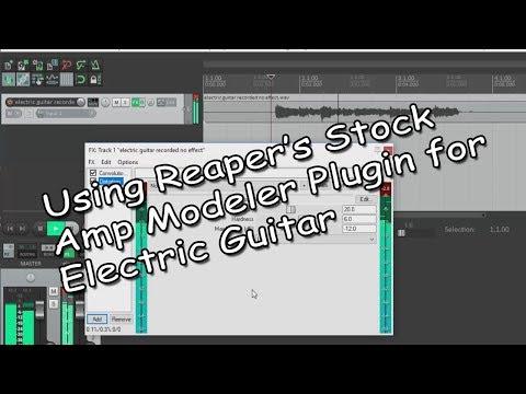 Reaper's Virtual Amp Modeler For Electric Guitar