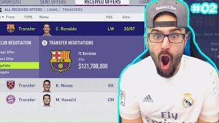 WTF BARCELONA OFFER $130,000,000 for CRISTIANO RONALDO! - FIFA 18 Career Mode #02