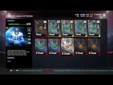Madden NFL 17 Mack Strong Legend Collection Madden MUT 17