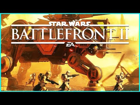 Star Wars Battlefront 2 — AT-TE und Obi Wan-Kenobi — Deutsch German Gameplay thumbnail