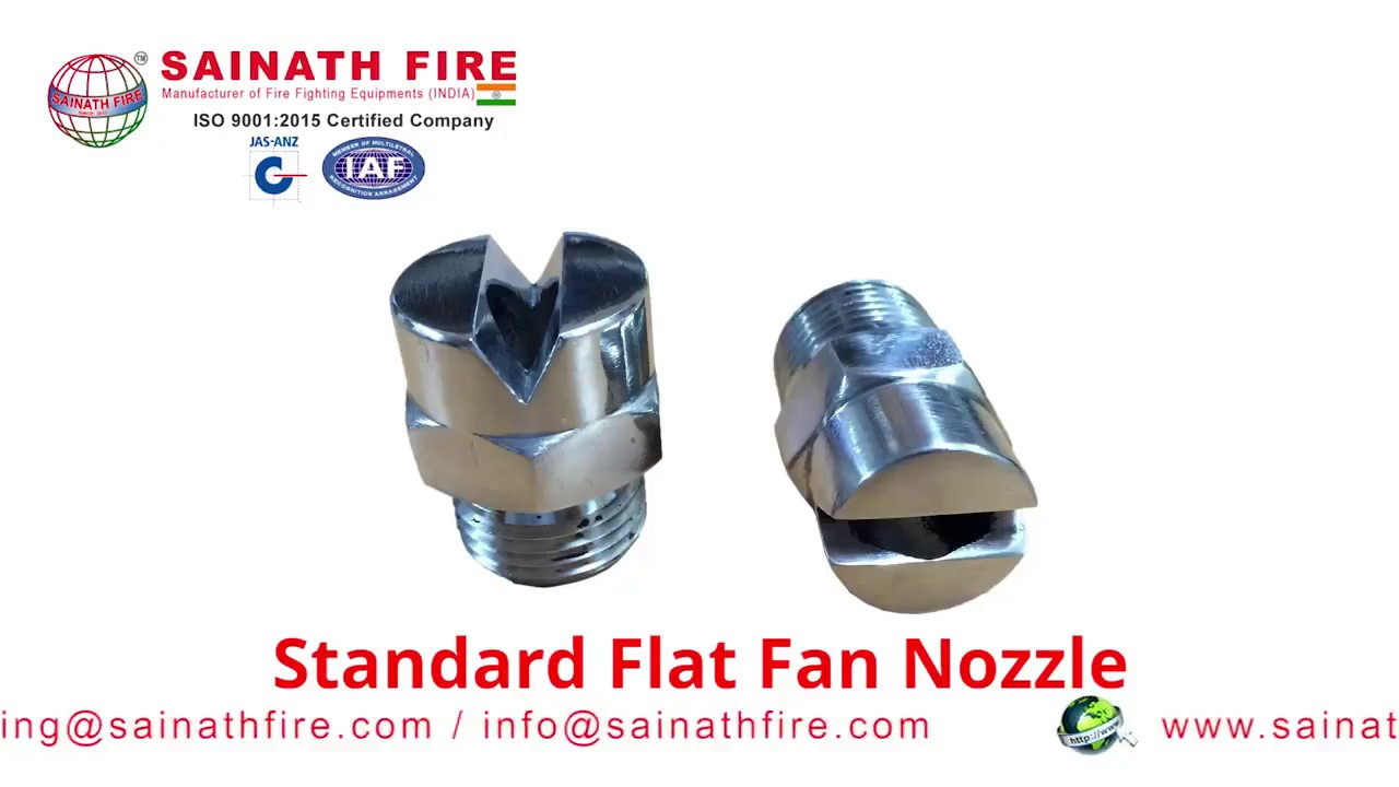 Flat spray nozzle standard angle fan nozzles by