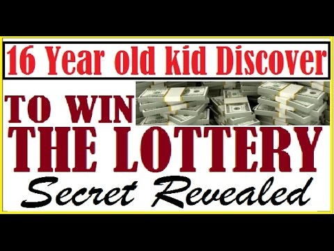 16 Year old kid Discover How to win the Lottery Daily Secret Revealed