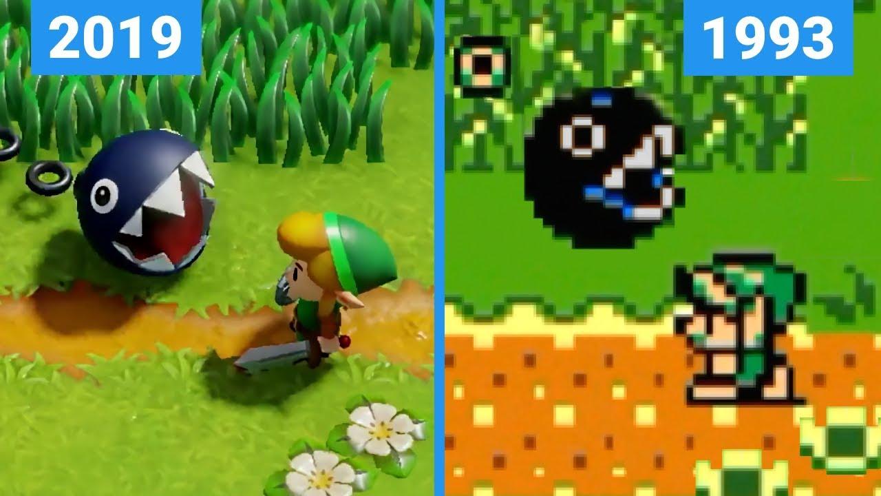 Zelda Links Awakening 2019 Switch Vs Game Boy Remake Trailer Comparison