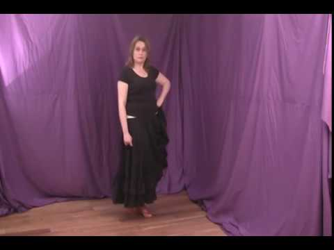 Practicing Flamenco Foot Work (Flamenco Dance Lessons)