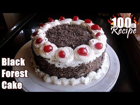 Black Forest Cake Recipe   Black Forest Cake   Birthday Cake Recipe  English Subtitles