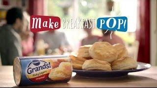 Tv Commercial Spot - Pillsbury Grands! Flaky Layers - Eggs & Biscuits - Make Breakfast Pop