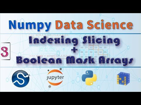 NumPy Indexing and Slicing Arrays, Boolean Mask Arrays , Numpy